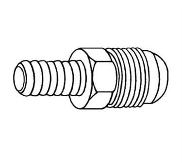 Franklin Machine Products  104-1051 Male Flare Hose Nipple 1/4