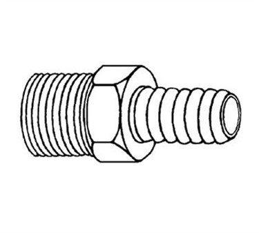 Franklin Machine Products  104-1060 Male Pipe Hose Nipple  3/8