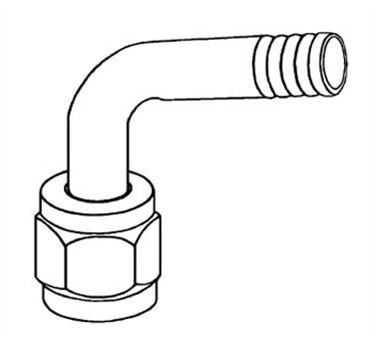 Franklin Machine Products  104-1057  Swivel Flare Elbow Hose Nipple  3/8