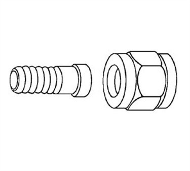 Franklin Machine Products  104-1048 Female Swivel Flare Hose Nipple 3/8