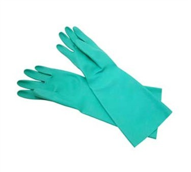 Franklin Machine Products  133-1350 Nitrile Rubber Green Dishwashing Glove Pair 13""