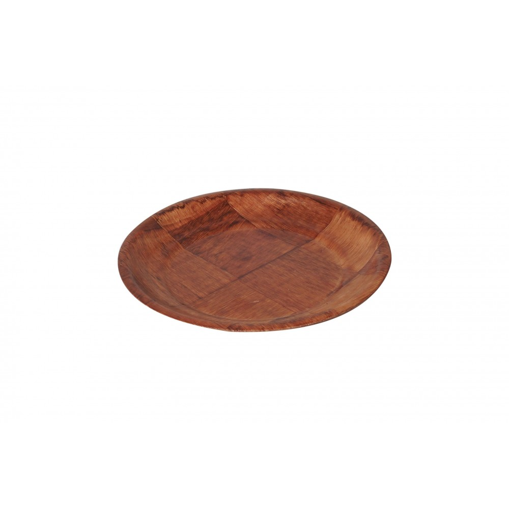 Non-Absorbent Wooden Keyaki Wood Plate - 6-1/4