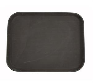 Non-Slip Fiberglass Tray, Brown, 14