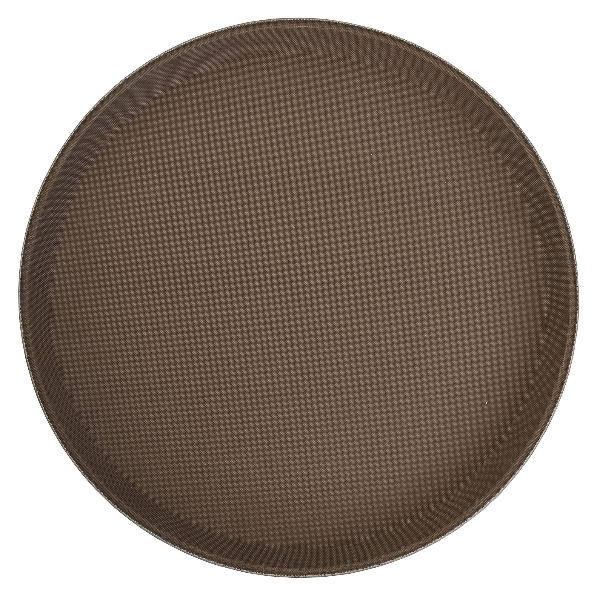 Non-Slip Fiberglass Tray Brown, 14
