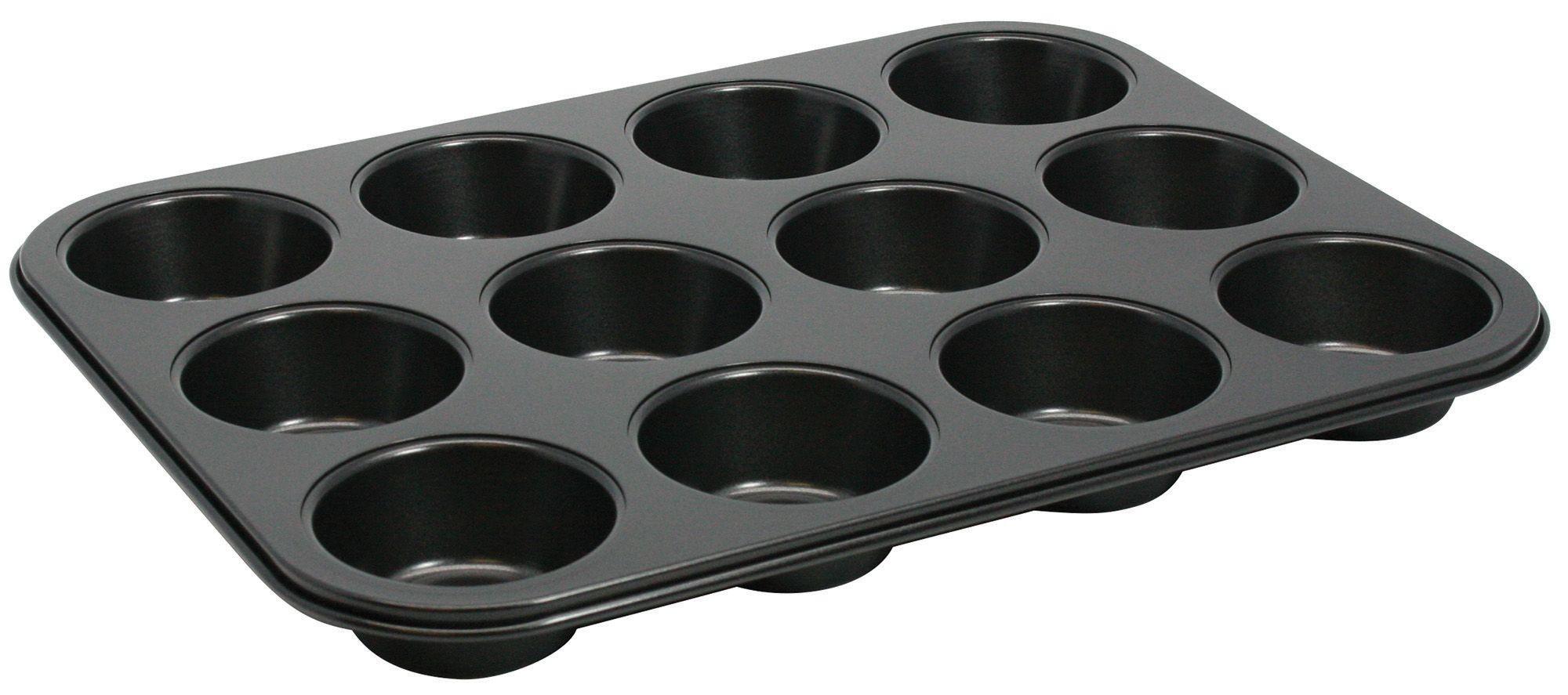 """Winco AMF-12NS Non-Stick Aluminum 12-Compartment Muffin Pan, 15-1/2"""" x 11"""""""