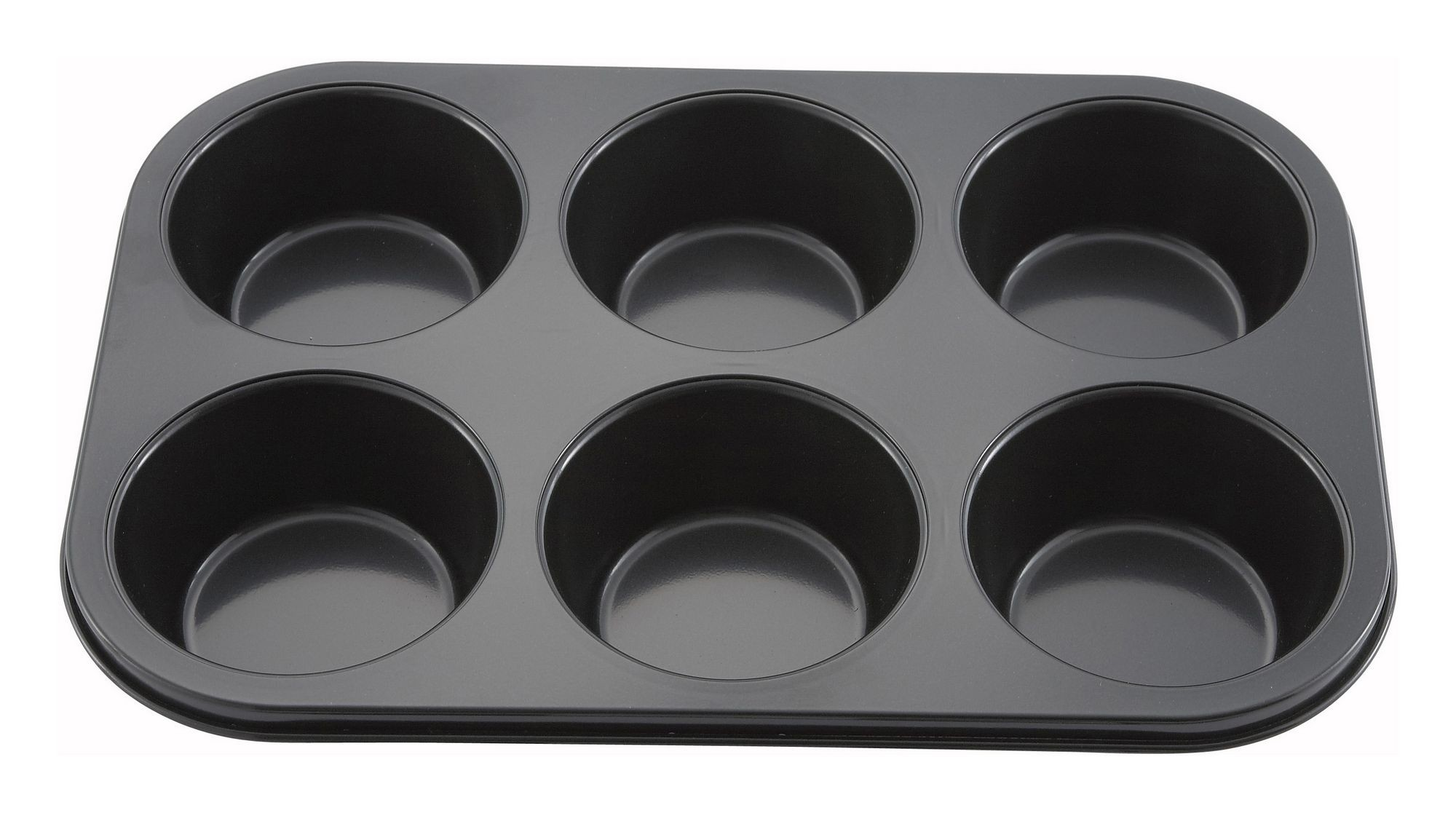"Winco AMF-6NS Non-Stick Aluminum 6-Compartment Muffin Pan, 13"" x 8-1/2"""