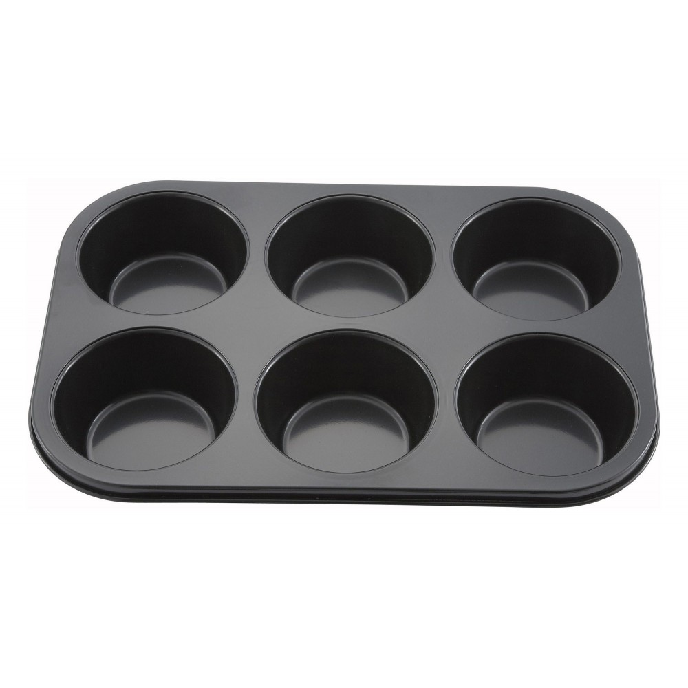 Non-Stick Aluminum 6-Compartment Muffin Pan, 13