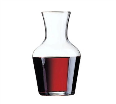Non-Tempered 1/2 Liter Luminarc Glass Wine Carafe - 6-1/2