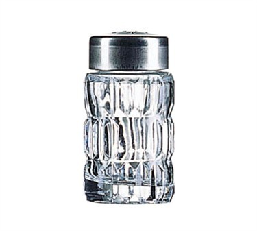 Non-Tempered Luminarc Facette Glass Salt/Pepper Shaker With Chrome Top - 2-1/2