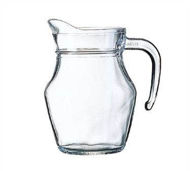 Cardinal E7258 Arcoroc Luminarc Glass 16 oz. Serving Pitcher with Pour Lip