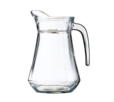 Non-Tempered Luminarc Glass 44 Oz. Serving Pitcher With Pour Lip - 8-1/2