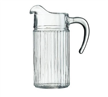Cardinal 12944 Luminarc Meridien 44 oz. Glass Serving Pitcher with Ice Lip