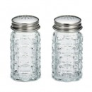 TableCraft 163S&P Nostalgia Salt and Pepper Shakers with Stainless Steel Top, 1-1/2 oz.