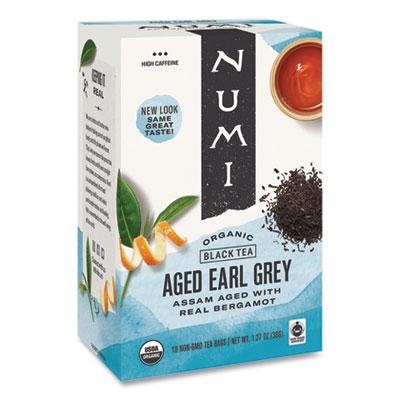 Numi Organic Teas and Teasans, 1.27 oz., Aged Earl Grey, 18/Box