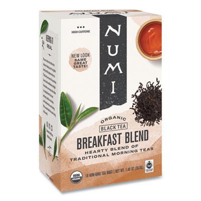 Numi Organic Teas and Teasans, 1.4 oz., Breakfast Blend, 18/Box