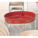 Nustone Red Deep Divided Server With Lid - 8-1/4