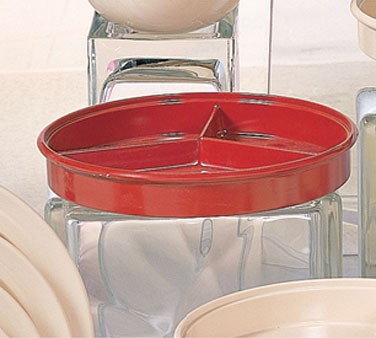 """Thunder Group NS608-1R Nustone Red Deep Divided Server with Lid 8-1/4"""""""