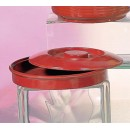 Thunder Group NS608R Nustone Red Melamine Tortilla Server with Lid 8-1/4""