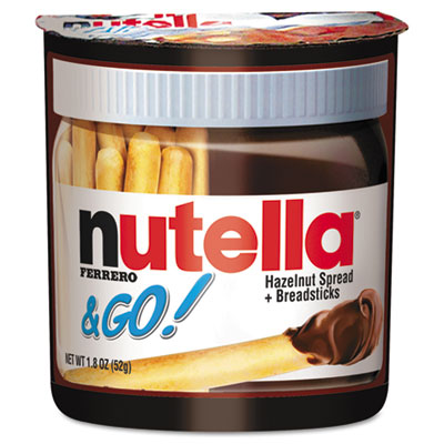 Nutella Hazelnut Spread and Breadsticks, 1.8 oz, 12/Box