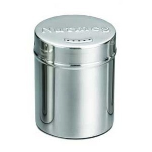 TableCraft 756 Stainless Steel Seattle Nutmeg Shaker, 6 oz.