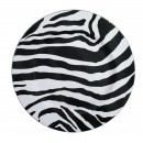 """Jay Import 1270008 Zebra 13"""" Round Charger Plate"""