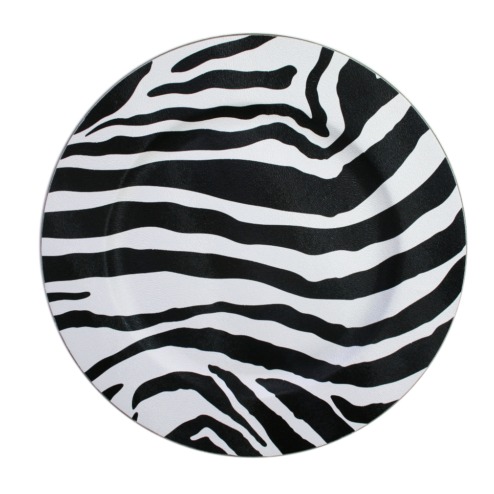 "Jay Import 1270008 Zebra 13"" Round Charger Plate"