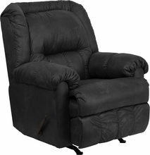 Contemporary Laramie Charcoal Microfiber Rocker Recliner