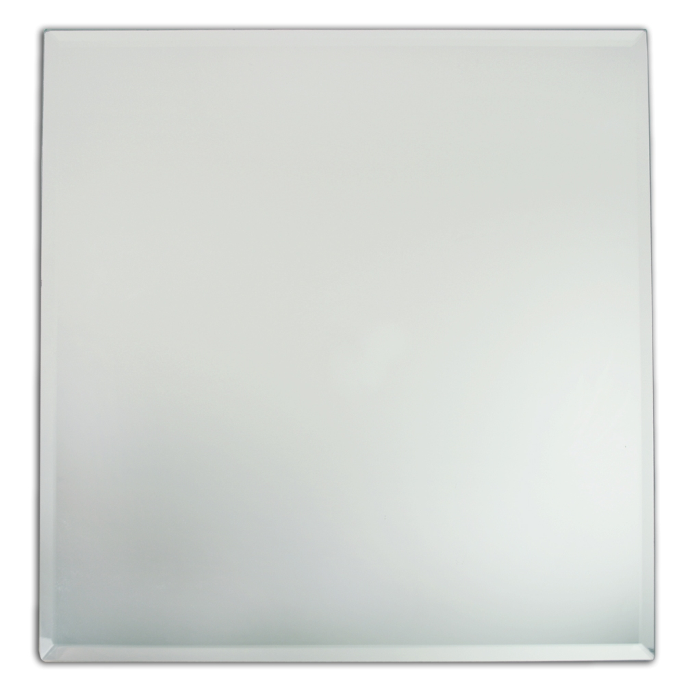"Jay Companies 1330022 Square Glass Mirror 13"" Charger Plate"