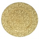"Jay Import 1427590BK Gold Mosaic 12"" Round Charger Plate"