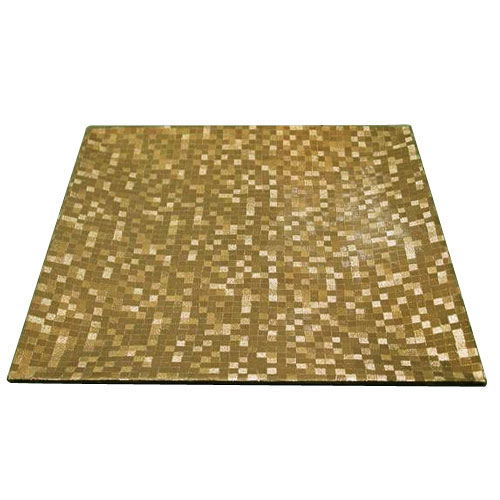 """Jay Import 1427367BK-12 Gold Mosaic 12"""" Square Charger Plate"""