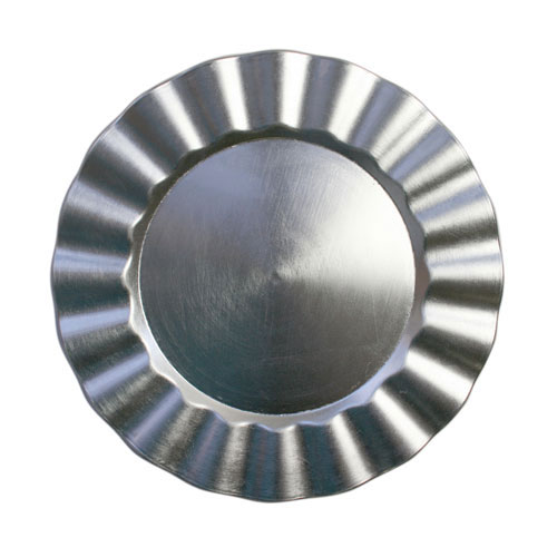 """Jay Companies 1183058 Silver Ruffled Round 13"""" Charger Plate"""
