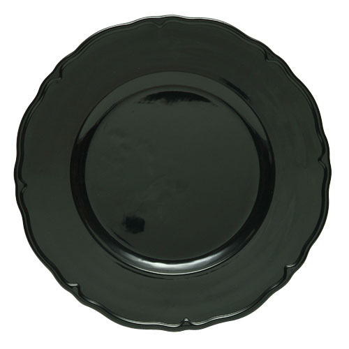 "Jay Import A215BK Black Regency 13"" Charger Plate"