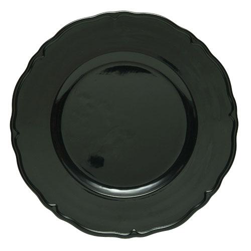 "Jay Import A215BK Black Regency 13"" Charger Plate"