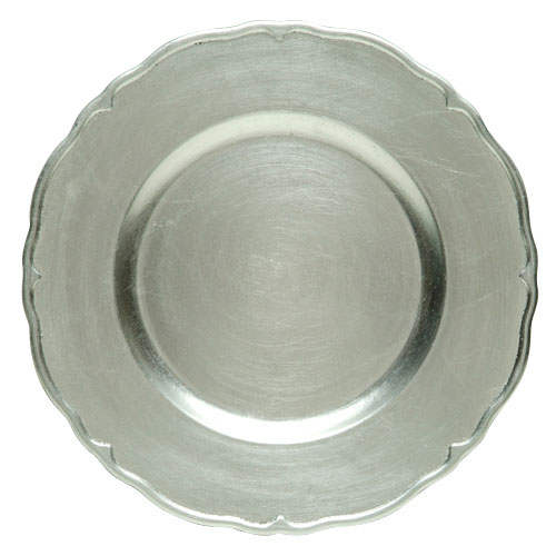 "Jay Companies A215HR Silver Regency Round 13"" Charger Plate"