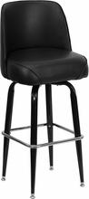 Metal Bar Stool with Swivel Bucket Seat