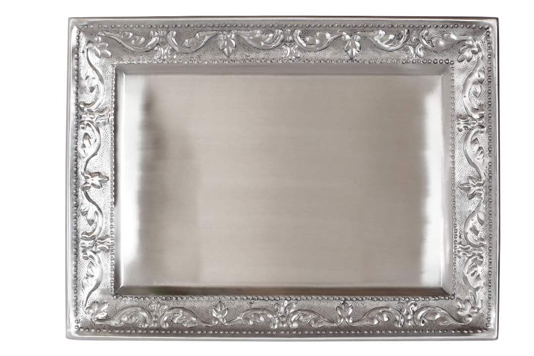 "DISC Old Dutch 419 Victoria Antique Embossed Rectangular Tray 18"" x 13 1/2"""