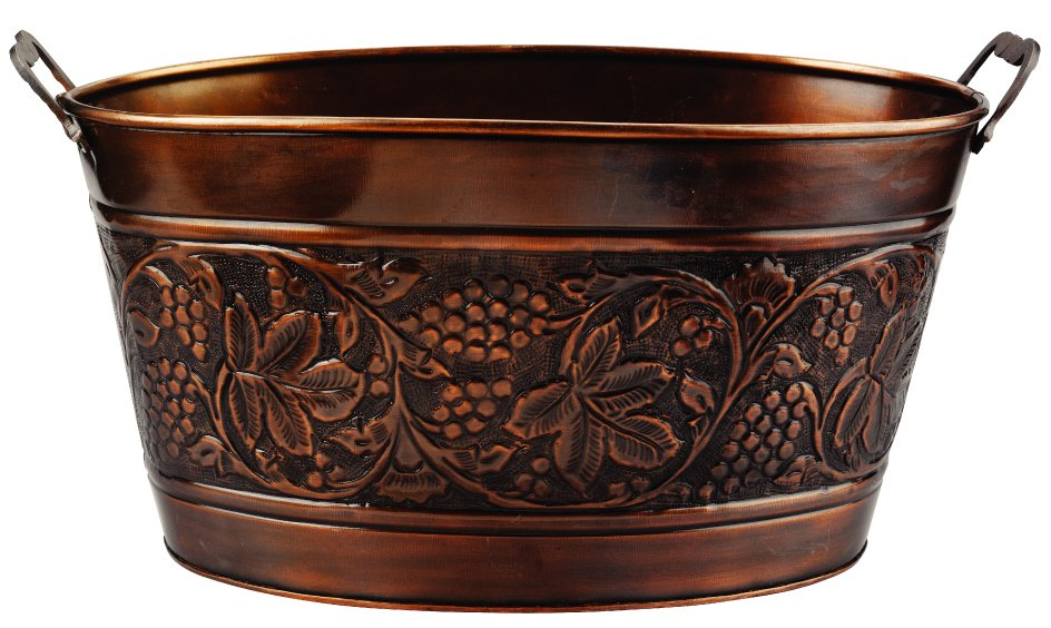 Antique Embossed Heritage Party Tub 5-1/2 Gallons