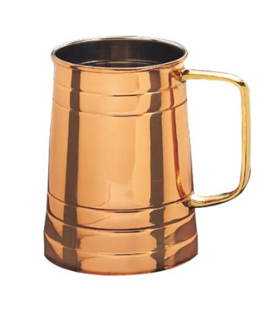 Old Dutch International 424 Solid Copper Beer Stein, 1 Pint
