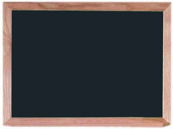 "Aarco Products OC1824B Black Composition Chalkboard with Red Oak Frame and Chalk Tray, 18""H x 24""W"