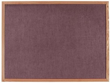 "Aarco Products OV4896 Burlap-Weave Vinyl Bulletin Board with Oak Frame, 48""H x 96""W"