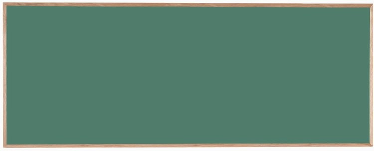 "Aarco Products OC48120 Chalkboard with Red Oak Frame (Choice of Colors), 48""H x 120""W"