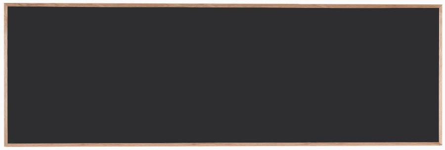 "Aarco Products OC48144 Chalkboard with Red Oak Frame (Choice of Colors), 48""H x 144""W"