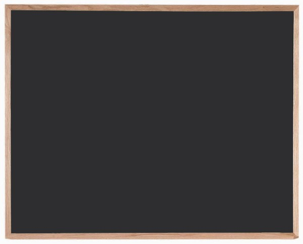 "Aarco Products OC4860 Chalkboard with Red Oak Frame (Choice of Colors), 48""H x 60""W"