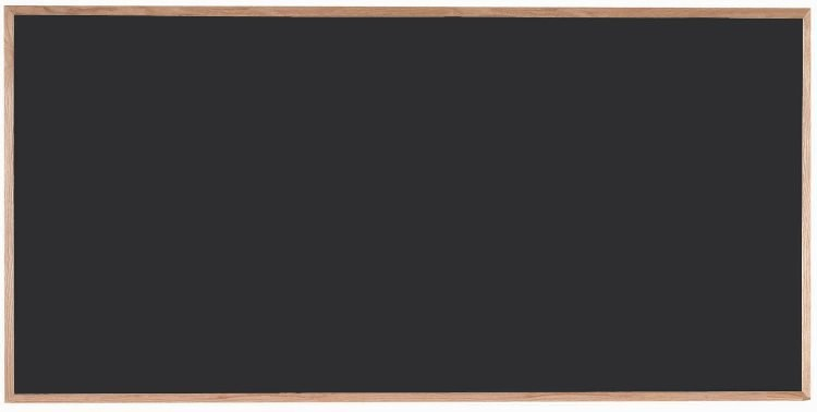 """Aarco Products OC4896 Chalkboard with Red Oak Frame (Choice of Colors), 48""""H x 96""""W"""