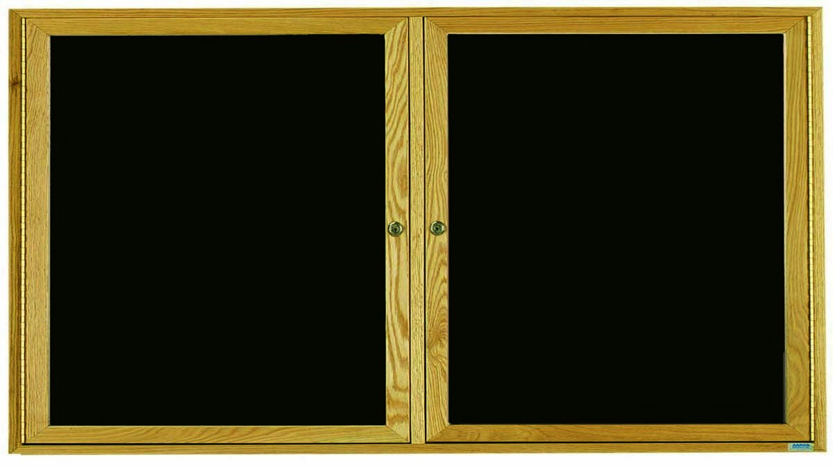 Oak Frame Enclosed 2-Door Directory Cabinet - 36