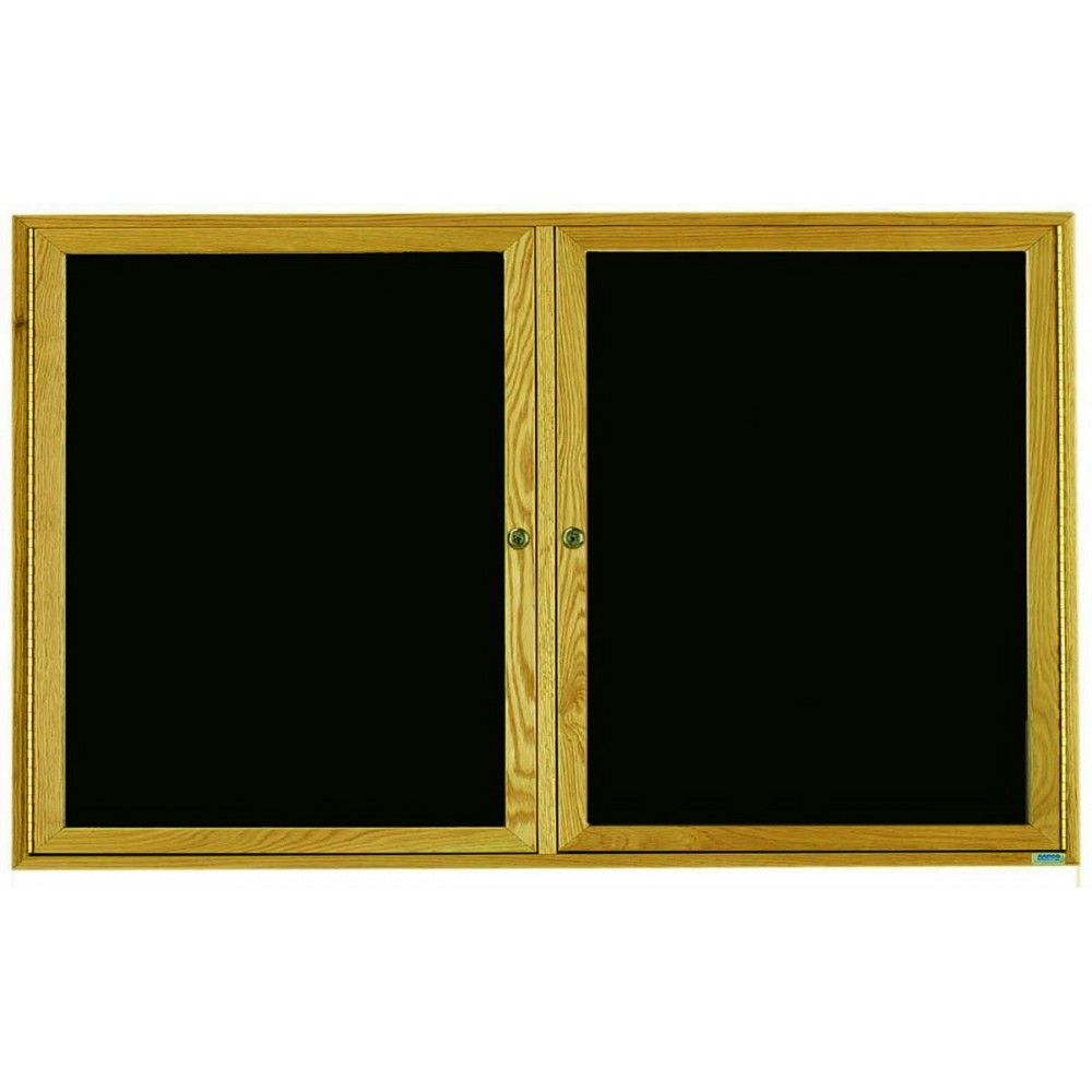 "Aarco Products ODC3660 Oak Frame Enclosed 2-Door Directory Cabinet, 36""H x 60""W"