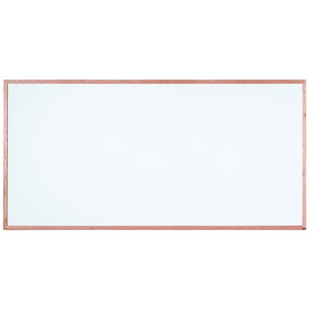 """Aarco Products WOC4896 Oak Frame Melamine Markerboard, 48""""H x 96""""W"""