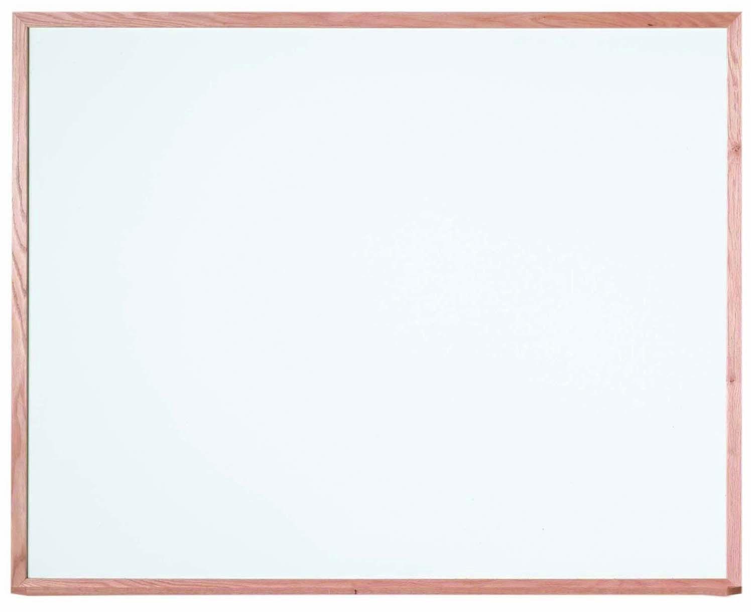 """Aarco Products WOC4860 Oak Frame Melamine Markerboard, 48""""H x 60""""W"""