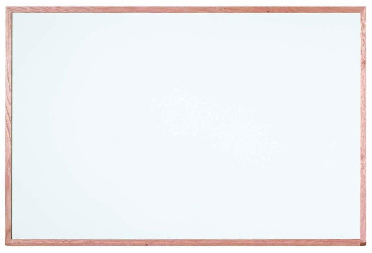 """Aarco Products WOC4872 Oak Frame Melamine Markerboard, 48""""H x 72""""W"""