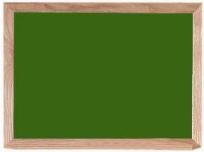 "Aarco Products OS1824 Porcelain on Steel Chalkboard with Oak Frame (Choice of Colors), 18""H x 24""W"
